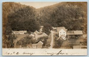 Postcard VT Plymouth Union c1907 View of Town RPPC Moore Hayward Real Photo S17