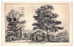 1938 The Cock Horse Inn, Dexter Pratt's Smithy, Cambridge, MA Postcard