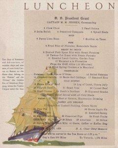 1928, Dollar Steamship Lines, Luncheon Menu, Mint (40175)