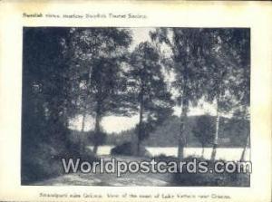 Sweden, Sverige Swedish Tourist Society, Small Postcard, Granna Swedish Touri...