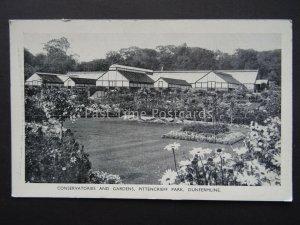DUNFERMLINE Pittencrief Park CONSERVATORIES Old Postcard by William Allan