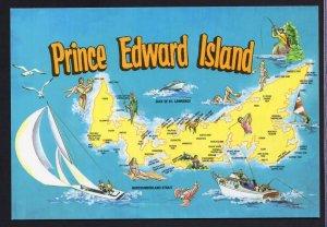 PEI MAP Prince Edward Island Tourist Area - Cont'l