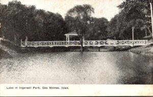 Iowa Des Moines Lake In Ingersoll Park 1909