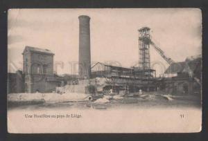 117826 Belgium LIEGE coalmine Luick Lidje Vintage PC