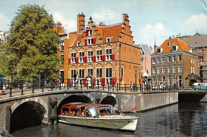 House on the three canals Amsterdam Holland Postal Used Unknown