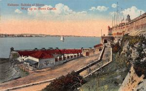 Way Up To Morro Castle, Havana, Cuba, Early Postcard, unused