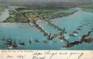 RICHMOND , Virginia, 1907; Bird's Eye View of the Exposition, Ships