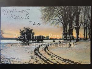 c1906 Winter Scene: When Winter Cold Brings Christmas Old