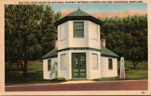 Maryland Old Toll Gate House On National Highway Between Cumberland and Frost...