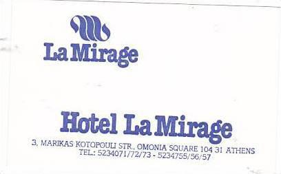 GREECE ATHENS HOTEL LA MIRAGE VINTAGE LUGGAGE LABEL