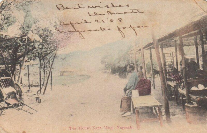 NAGASAKI, Japan, 1903 ; Tea House near Mogi