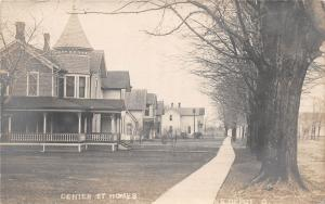 E46/ Prairie Depot Ohio Real Photo RPPC Postcard c1910 Center Street Homes