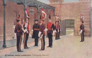 5th Royal Irish Lancers Changing Guard Military Tucks Postcard