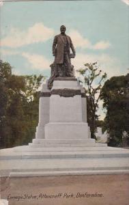 Scotland Dunfermlime Carnegie Statue Pittencrieff Park