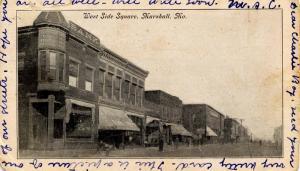 MO - Marshall. West Side Square circa 1907