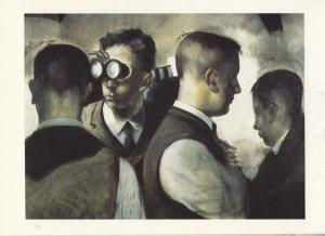Stephen Conway The Enthusiasts Scottish Gallery Binoculars Painting Postcard