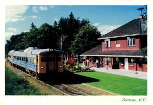 Canada - British Columbia, Duncan. Railway Station
