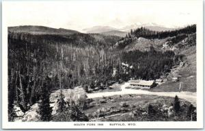 Buffalo, Wyoming Postcard SOUTH FORK INN Highway 16 Roadside Albertype Unused