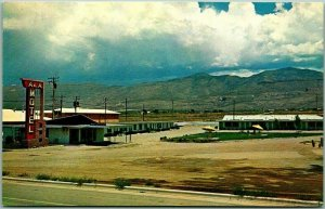 Vintage ALAMOGORDO New Mexico Postcard ALA MOTEL Roadside / Chrome - Dated 1960