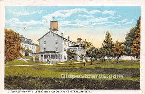 Old Vintage Shaker Post Card General View of Village East Canterbury, New Ham...