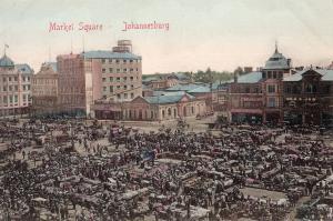 Johannesburg Market Main Square Old Postcard