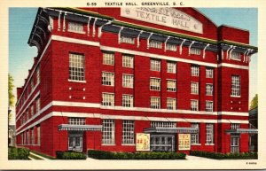 South Carolina Greenville Textile Hall