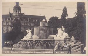 RP: MUNCHEN , Germany , 10-30s ; Wittelsbacher Brunnen - Eden Hotel