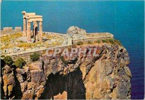 Modern Postcard Rhodes The Acropolis of Lindos