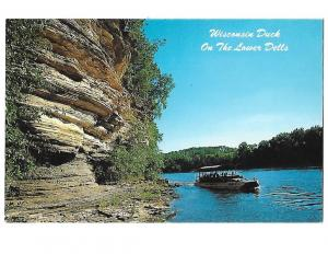 Wisconsin Duck Boat on Lower Dells of Wisconsin River