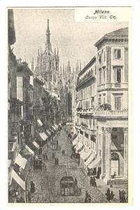 Milano (Milan), Italy, 1890s-1905 ; Corso Vitt. Wm.