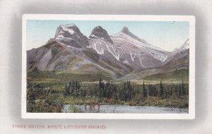 BANFF, Alberta, Canada, 1900-1910s; Three Sisters, Canadian Rockies