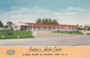 CARY , North Carolina , 30-40s ; Sutton's Motor Court