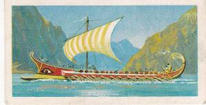 Trade Cards Brooke Bond Tea Transport Through The Ages No 10 Galley