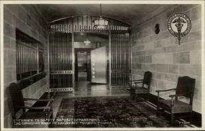 Toronto ON Bank of Commerce Safety Deposit Dept Real Photo Postcard