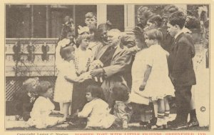GREENFIELD, Indiana, 1910s; Hoosier Poet with Little Friends