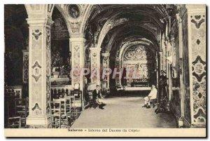 Old Postcard Ravello Interno Del Duomo cripta