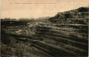 CPA AK INDOCHINA Tonkin Mines de Charbon a ciel ouvert VIETNAM (956657)