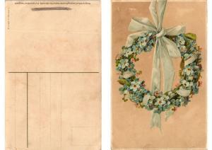 CPA Blumenkranze Meissner & Buch Litho Serie 1612 (730866)