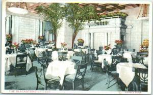 Chicago, Illinois Postcard BLACKSTONE HOTEL Marble Room Restaurant c1910s Unused