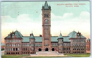 DULUTH, Minnesota  MN   DULUTH CENTRAL HIGH SCHOOL  1909  Postcard