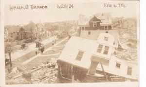 RP: LORAIN, Ohio, 1924; Erie & 5th after the Tornado