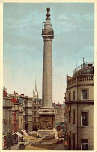 London The Monument Street Postcard