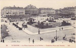 La Place Gambetta Et Le Theatre, Le Havre (Seine-Maritime), France, 1900-1910s