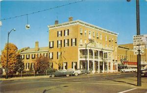 Lebanon Ohio~Golden Lamb Inn on Route 42 & 48~Road Signs~50s Cars~Postcard