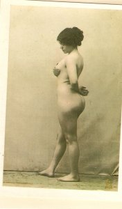 Nude lady Modern Spanish PC, reproduction of old French PC. Continental size