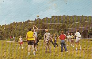 Volleyball At Forest County Camp Marienville Pennsylvania 1964
