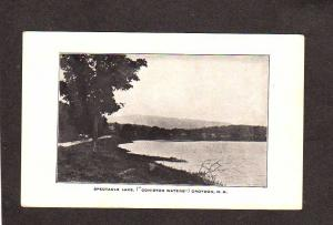 NH Spectacle Lake Coniston Waters Croydon New Hampshire Postcard UDB Vintage