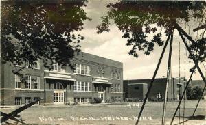 1949 Stephens Minnesota Public School RPPC Photo Postcard Pearson 1219