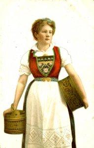 Norwegian Woman - In Native Costume