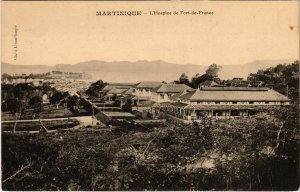 PC CPA MARTINIQUE, L'HOSPICE DE FORT DE FRANCE, VINTAGE POSTCARD (b11758)